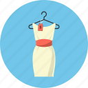 clothes, dress, hanger, price icon