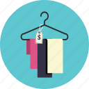 hanger, price, textile icon