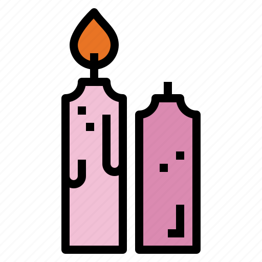 birthday, candle, light, party icon