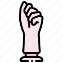clenched, dildo, fist, knuckles icon