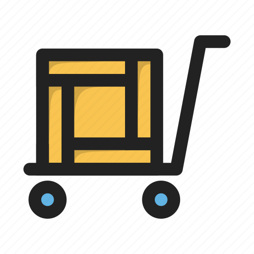 business, cart, deliver, finance, heavy, load, shop icon