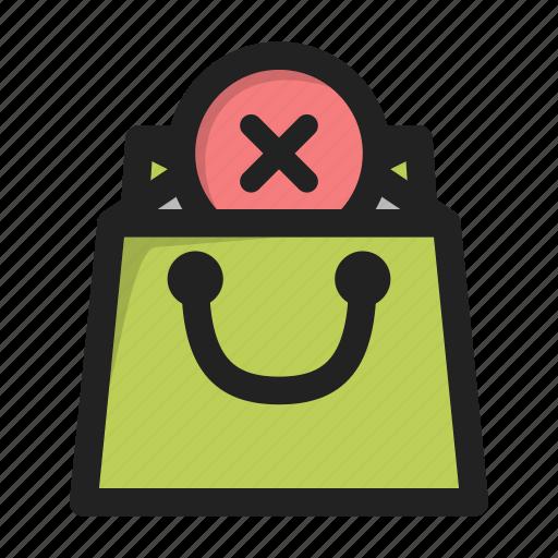 bag, business, contents, delete, finance, shop, supermarket icon