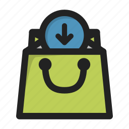 add, bag, business, finance, money, shop icon