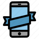 device, mobile, new, online store, phone, smartphone, tape icon