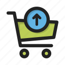 business, cart, contents, finance, money, retrieve, shop icon