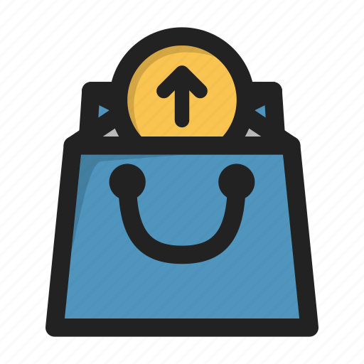 bag, business, finance, from, money, retrieve, shop icon