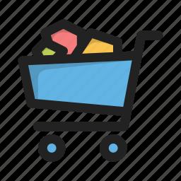business, cart, finance, full, money, shopping, supermarket icon