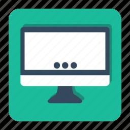 computer, desktop, display, mac, monitor, my icon