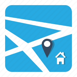 gps, home, house, map, marker, navigation, pin icon