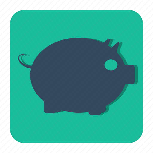 bank, coin, money, pig, piggy, saving icon