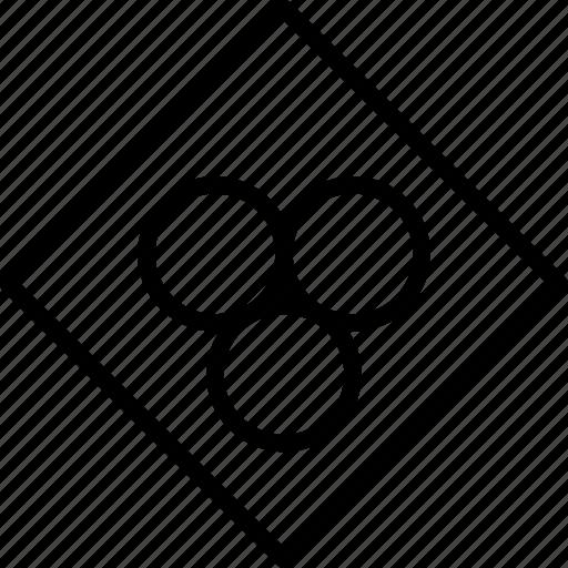 center, container, molecules, rhombus icon