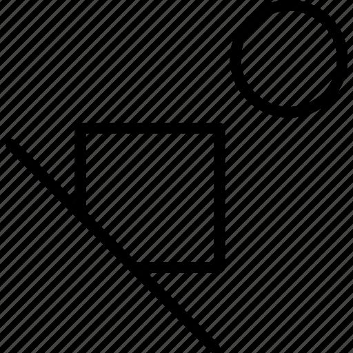 circle, shapes, ski, square icon