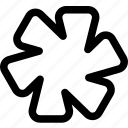 beams, blades, rotation, saw icon