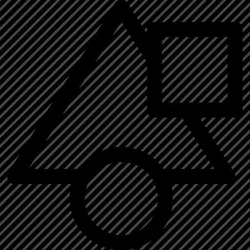 circle, shapes, square, triangle icon