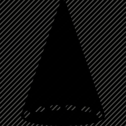 circle, cone, diagram, geomentry, shape icon