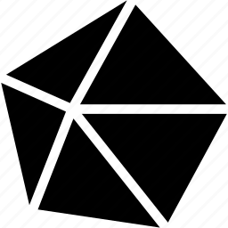 dekaeder, diagram, geomentry, line, shape icon