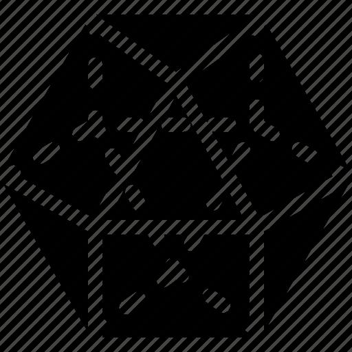 diagram, dodekaeder, geomentry, line, shape icon