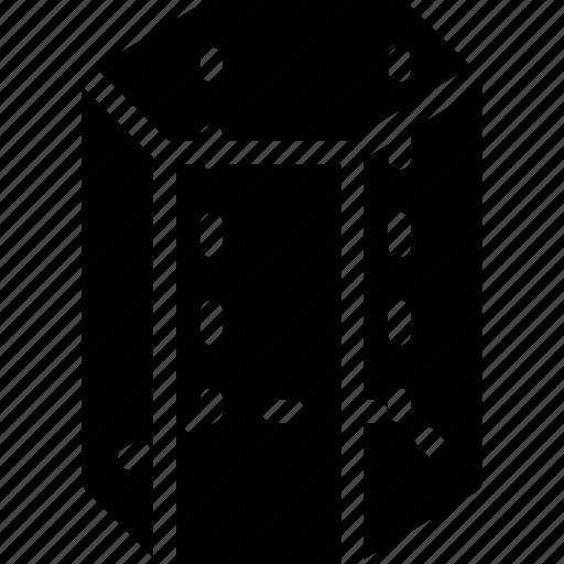 cylinder, geomentry, hexagonal, line, shape icon
