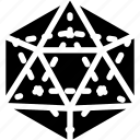 diagram, geomentry, ikosaeder, line, shape icon