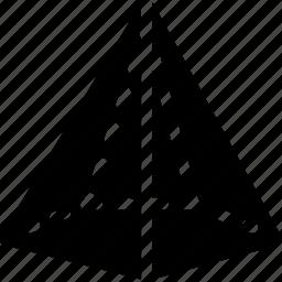 cone, diagram, geomentry, pentagonal, shape icon
