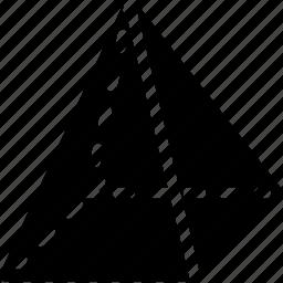 diagram, geomentry, line, pyramid, shape icon
