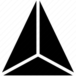 diagram, geomentry, line, shape, tetraeder icon