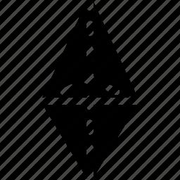 diagram, geomentry, line, shape, tetraeder4 icon