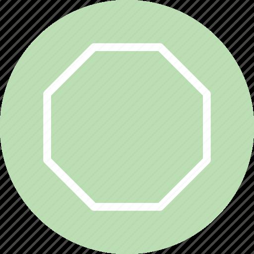 octagon, octagon icon, octagon shape, octagon symbol icon