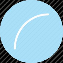 curve, curve icon, curve line, curve shape icon