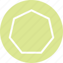 heptagon, heptagon icon, heptagon shape, polygon icon icon