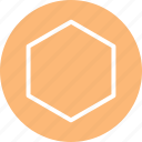 hexagon, hexagon icon, hexagon shape, hexagon symbol, polygon icon icon