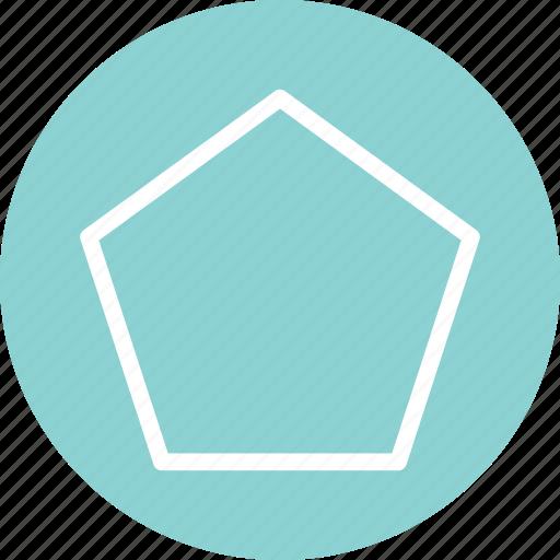 pentagon, pentagon icon, pentagon shape, pentagon symbol icon