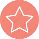 favorite, favourite, rate, rating, star, star icon, star shape icon
