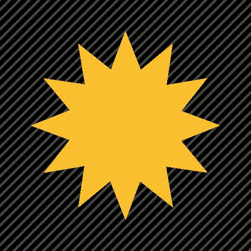 ball, blast, bomb, explosion, fire, light, yellow icon