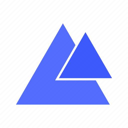 angle, design, geometry, pyramid, right, triangle, two icon