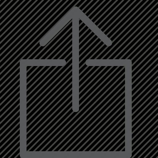 arrow, box, send, share, up, upload icon
