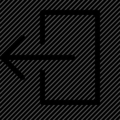 export, left, send, transfer icon