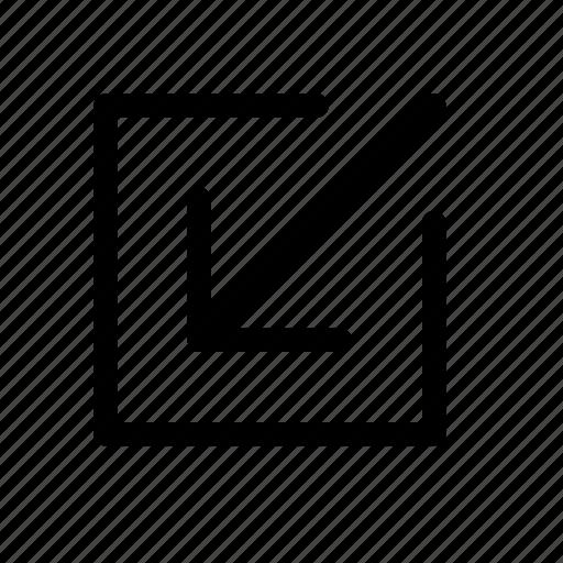 enter, minimize, receive icon