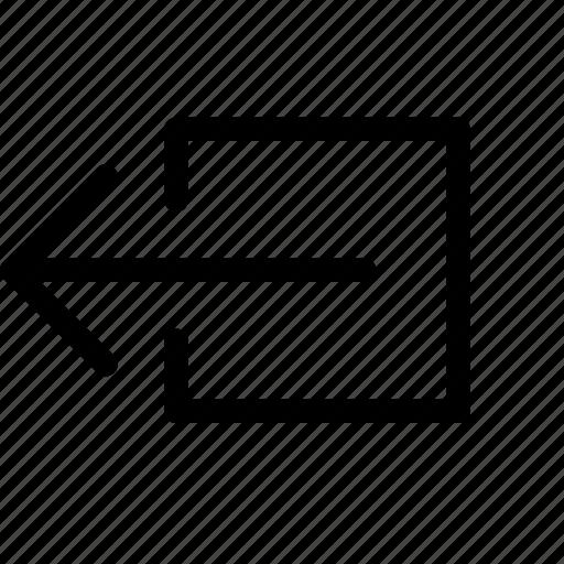 exit, left, send icon
