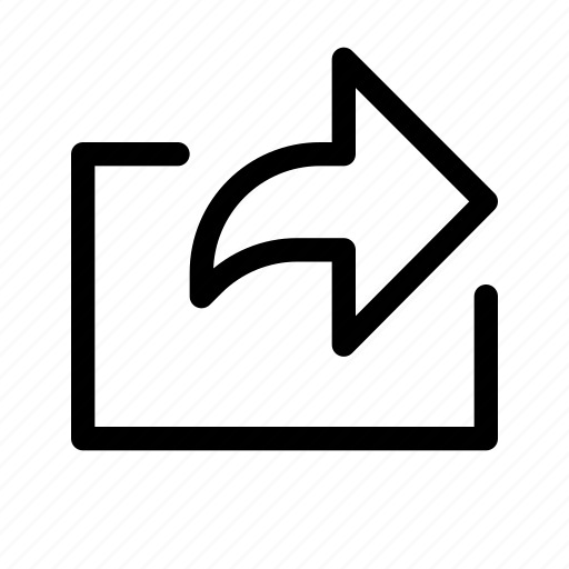 exit, right, share icon