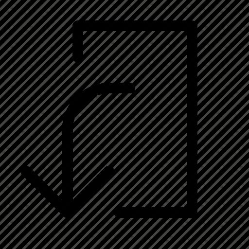 bottom, exit, left, transfer icon