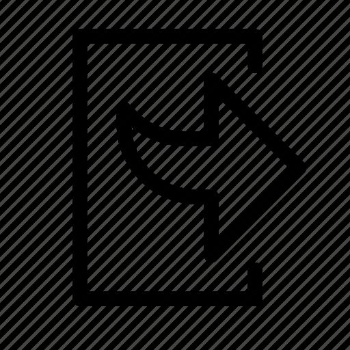 bottom, exit, right, transmit icon