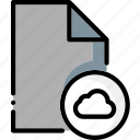 cloud, colour, file, files, ultra icon