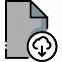cloud, colour, download, file, files, from, ultra icon