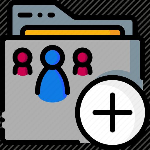 add, colour, folder, folders, ultra icon