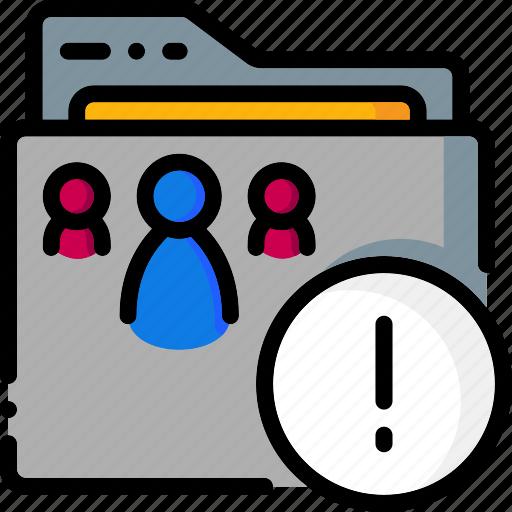 attention, colour, folder, folders, ultra icon