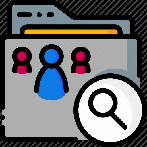 Folders, folder, search, ultra, colour icon