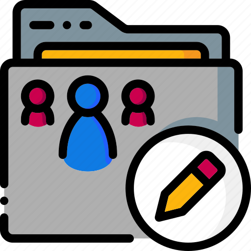 colour, edit, folder, folders, permissions, ultra icon