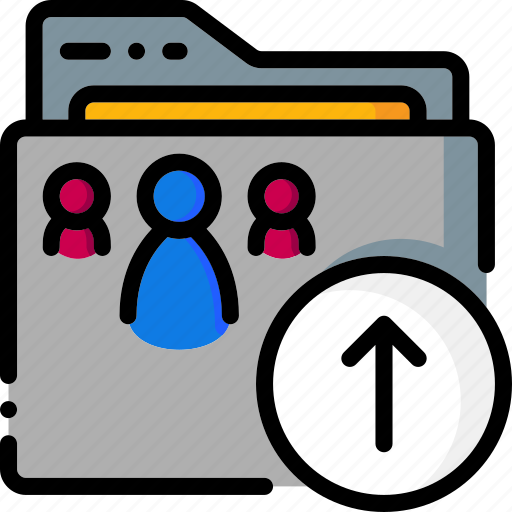 Folders, colour, ultra, folder, upload icon