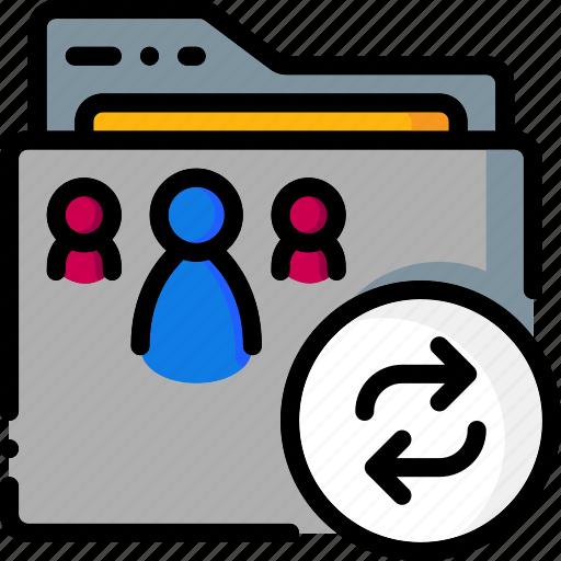 colour, folder, folders, refresh, ultra icon